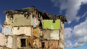 Casa velha da demolição Moscovo, Rússia filme