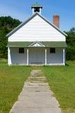 Casa velha da escola histórica em dunas do urso do sono Fotografia de Stock Royalty Free