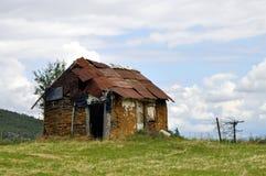 Casa velha da exploração agrícola foto de stock