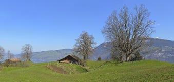 Casa velha da exploração agrícola de Aeschiried Imagens de Stock Royalty Free