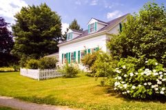 Casa velha da exploração agrícola de Nova Inglaterra Imagens de Stock Royalty Free