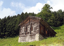 Casa velha das montanhas Imagem de Stock