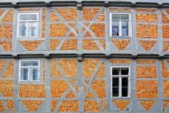 Casa velha de Fachwerk em Wolfenbuttel. Fotografia de Stock Royalty Free