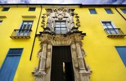 Casa velha de Obrapia da fachada do edifício de havana Fotos de Stock