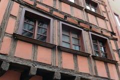 Casa velha distrito de França do la no pequeno em Strasbourg fotografia de stock royalty free