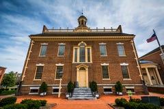 A casa velha do estado em Dôvar, Delaware fotografia de stock royalty free
