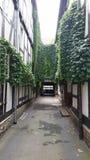 Casa velha do estilo de Tudor fotografia de stock
