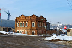 Casa velha do final do século XIX Kamensk-Uralsky Rússia Fotografia de Stock Royalty Free
