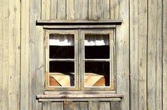 Casa velha do fundo com janelas Foto de Stock