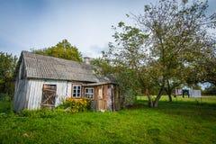 Casa velha do jardim Foto de Stock