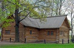 Casa velha do russo onde Peter o grande vivido dentro imagem de stock royalty free