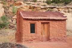 Casa velha do tijolo imagem de stock royalty free