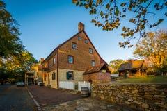 Casa velha do tijolo em Salem Historic District idoso, em Winston-S Fotografia de Stock Royalty Free