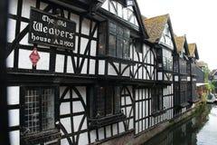A casa velha dos tecelões em Canterbury, Kent, Inglaterra imagens de stock royalty free