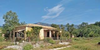 Casa velha em Greece fotos de stock