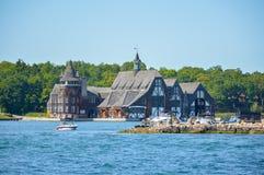Casa velha em 1000 ilhas e em Kingston em Ontário, Canadá Fotografia de Stock