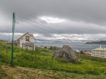 Casa velha em Isafjordur Islândia imagens de stock royalty free