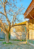 Casa velha fora do monastério de Iviron Fotos de Stock