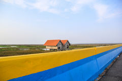 Casa velha gêmea em Thala Noi Waterfowl Reserve Park, Phatthalung Imagens de Stock