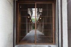 Casa velha japonesa indoor imagem de stock