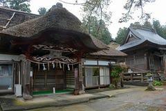 Casa velha na montagem Haguro Imagem de Stock
