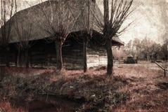 Casa velha no parque da herança fotografia de stock royalty free