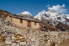 Casa velha nos Himalayas Foto de Stock