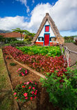 Casa velha típica em Santana, Madeira, Portugal Fotos de Stock Royalty Free