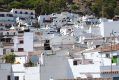 Casa velha típica na cidade de Mijas andalusia spain imagem de stock royalty free