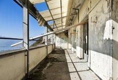Casa velha, terraço fotos de stock