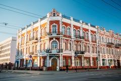 Casa velha - um exemplo da arquitetura do 19a fotografia de stock