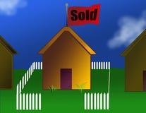 A casa vendeu Ilustração do Vetor