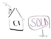 Casa venduta illustrazione vettoriale