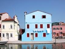 Casa veneciana azul Imagen de archivo libre de regalías