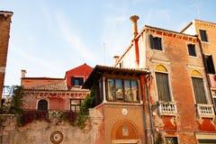 Casa veneciana típica, Venecia, Italia foto de archivo