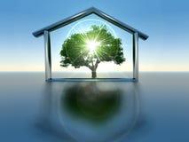 Casa verde Fotografía de archivo libre de regalías