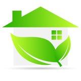Casa verde ilustración del vector