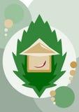 Casa verde foto de stock