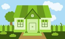 Casa verde Fotografía de archivo