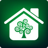 Casa verde ilustração stock
