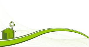 Casa verde Imagen de archivo libre de regalías