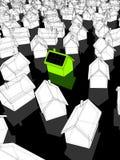 Casa verde com células solares Foto de Stock Royalty Free
