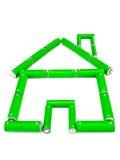 Casa verde da bateria fotografia de stock