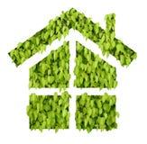 Casa verde da folha fotografia de stock royalty free