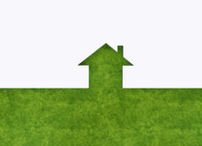 Casa verde da metáfora ilustração do vetor