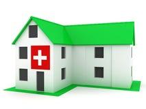 Casa verde del hospital ecológicamente puro Foto de archivo