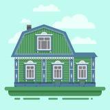 Casa verde del país Fotografía de archivo libre de regalías