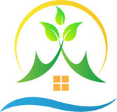 Casa verde della natura illustrazione vettoriale