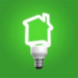 Casa verde do conceito Fotografia de Stock Royalty Free