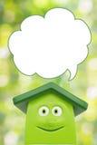 Casa verde dos desenhos animados de Eco Fotografia de Stock Royalty Free